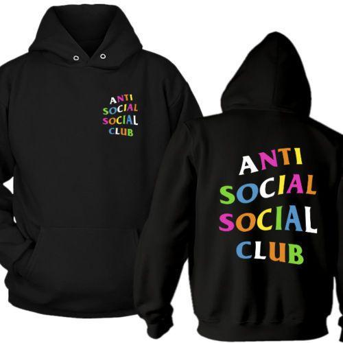 735ad99faaa7 ASSC Rainbow Anti Social Social Club Logo hoodie XS-2XL  fashion  clothing   shoes  accessories  mensclothing  activewear (ebay link)