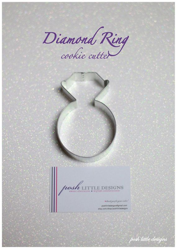 Diamond Ring Cookie Cutter by poshlittledesigns on Etsy, $1.95