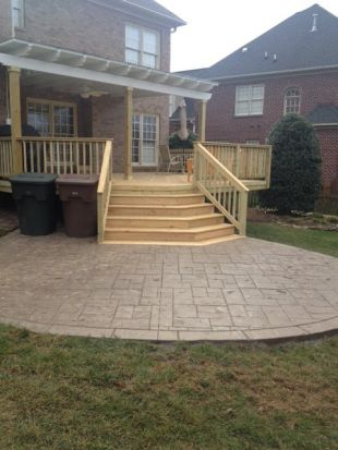 This Northwest Winston Salem Nc Deck Patio And Pergola Combination Is Spacious And Stylish Enough To Suit Many Outdoor Endeavors Pergola Patio Hardscape Patio Backyard Patio