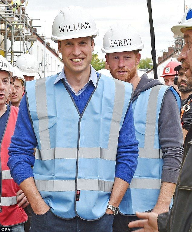 Princes William and Harry help transform a derelict street