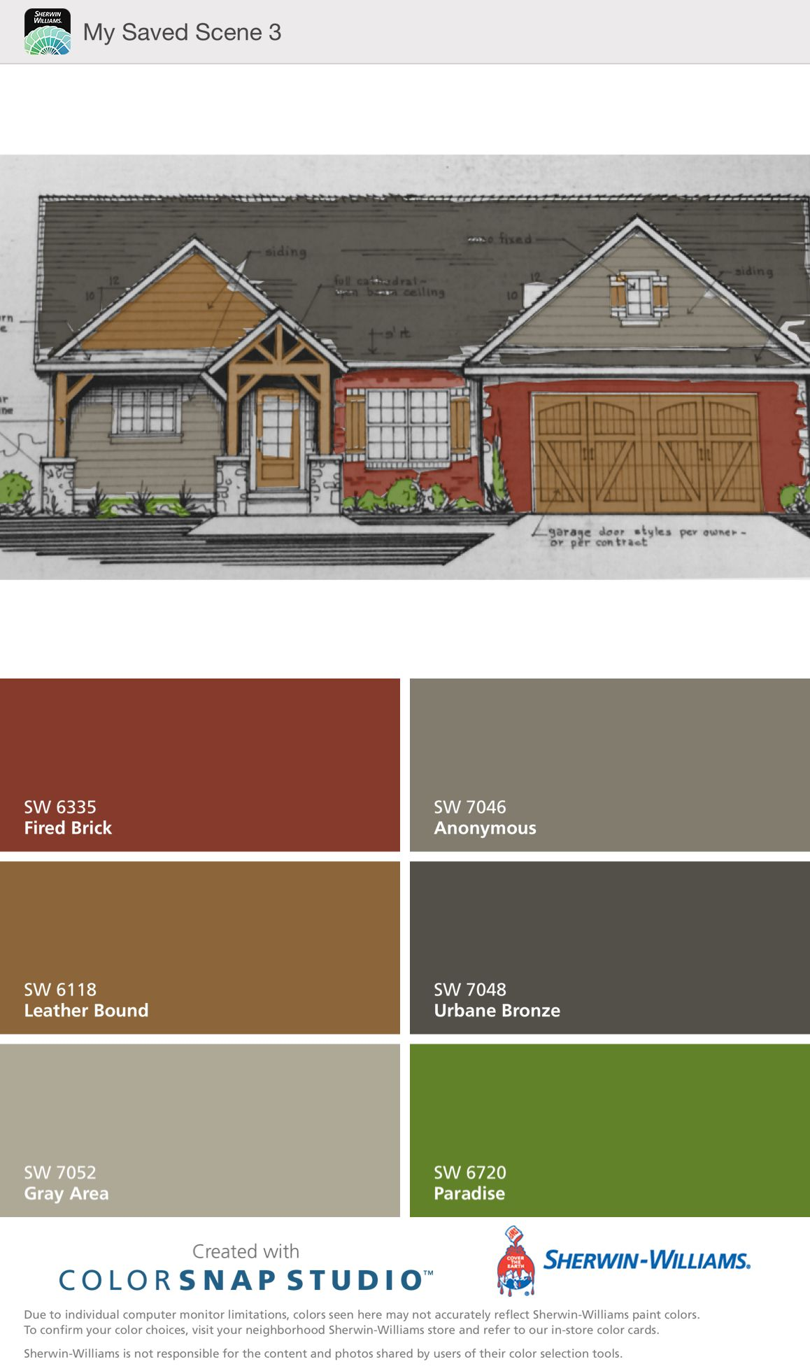 Visualizing My Brick House With Cedar Trim Painted With