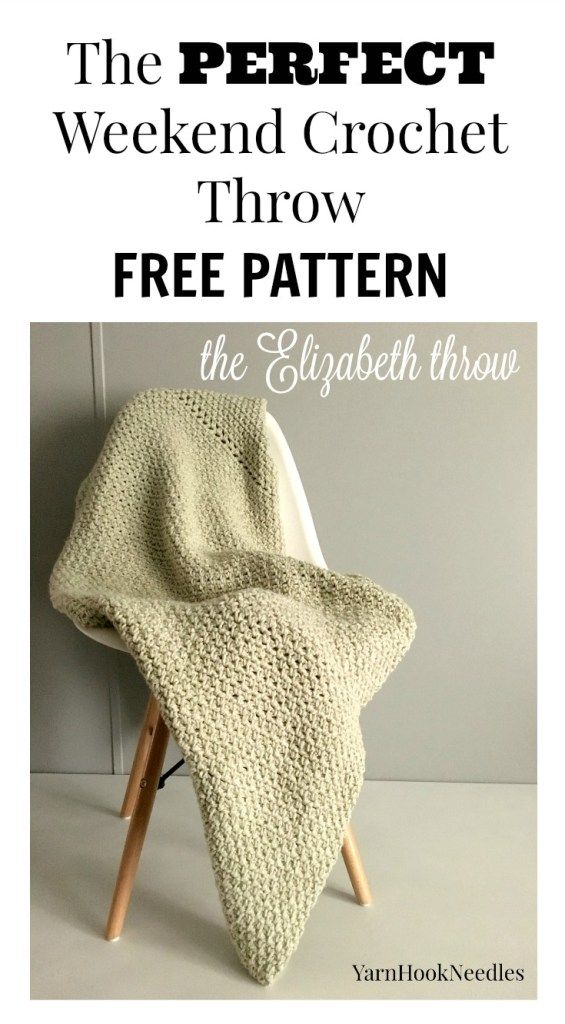 The Elizabeth Throw with a FREE Crochet pattern | croche | Pinterest ...