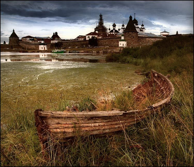 Старая лодка Photo  (boat, landscape)