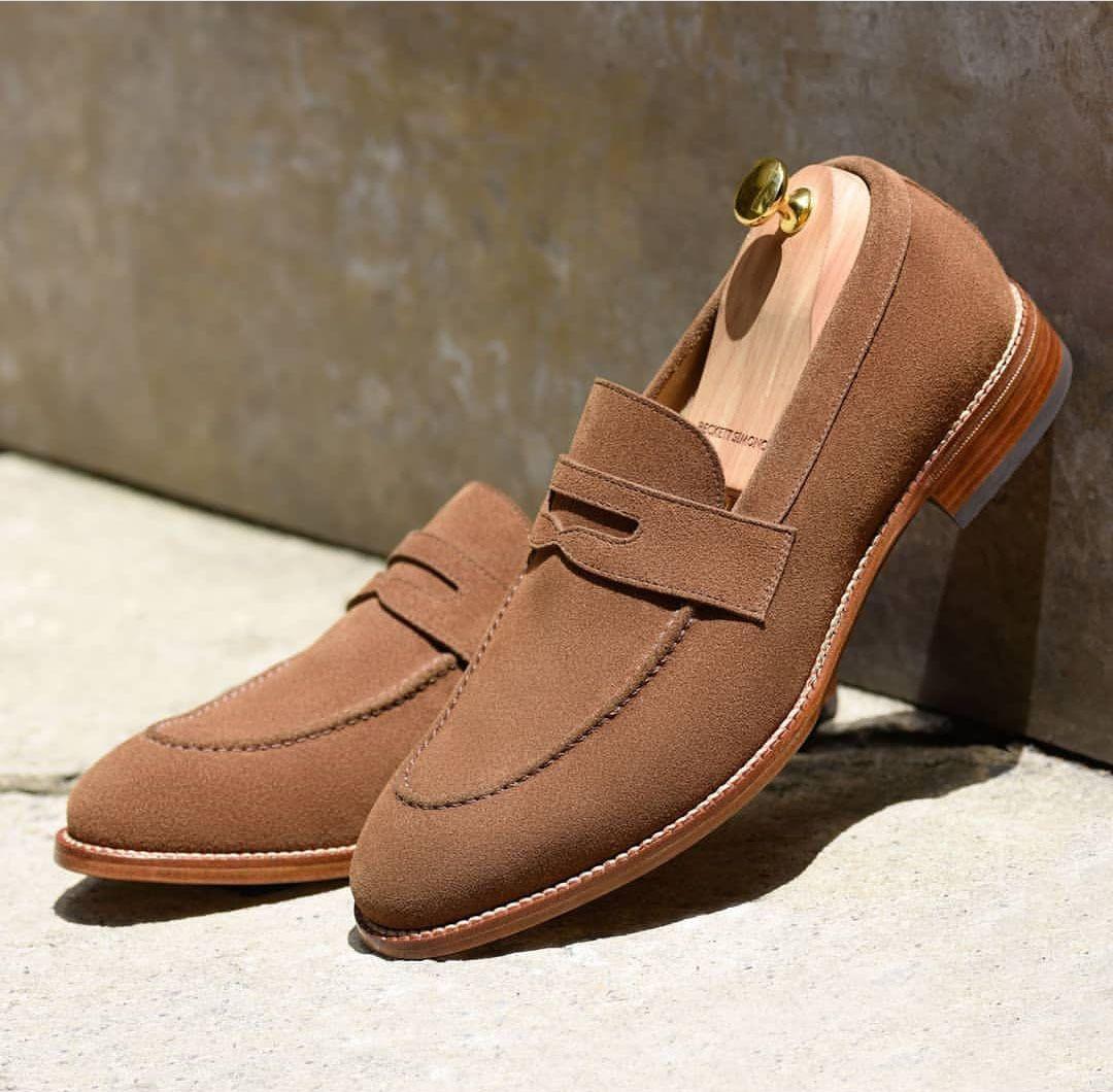 Handmade Men S Beige Color Shoes Men S New Suede Loafer Slip On Shoes Handmade Dress Shoes Slip On Shoes Suede Loafers