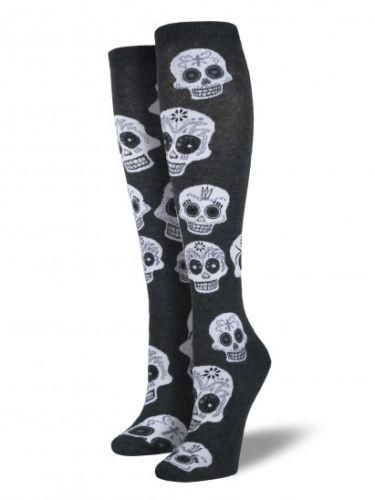 0dfab9af05e Women s Knee High socks Dia De Los Muertos