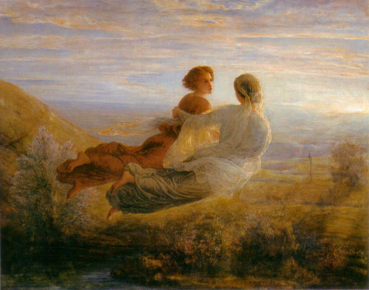 """""""Полет души"""",  Anne François Louis Janmot (1814-1892, ФРАНЦИЯ)"""