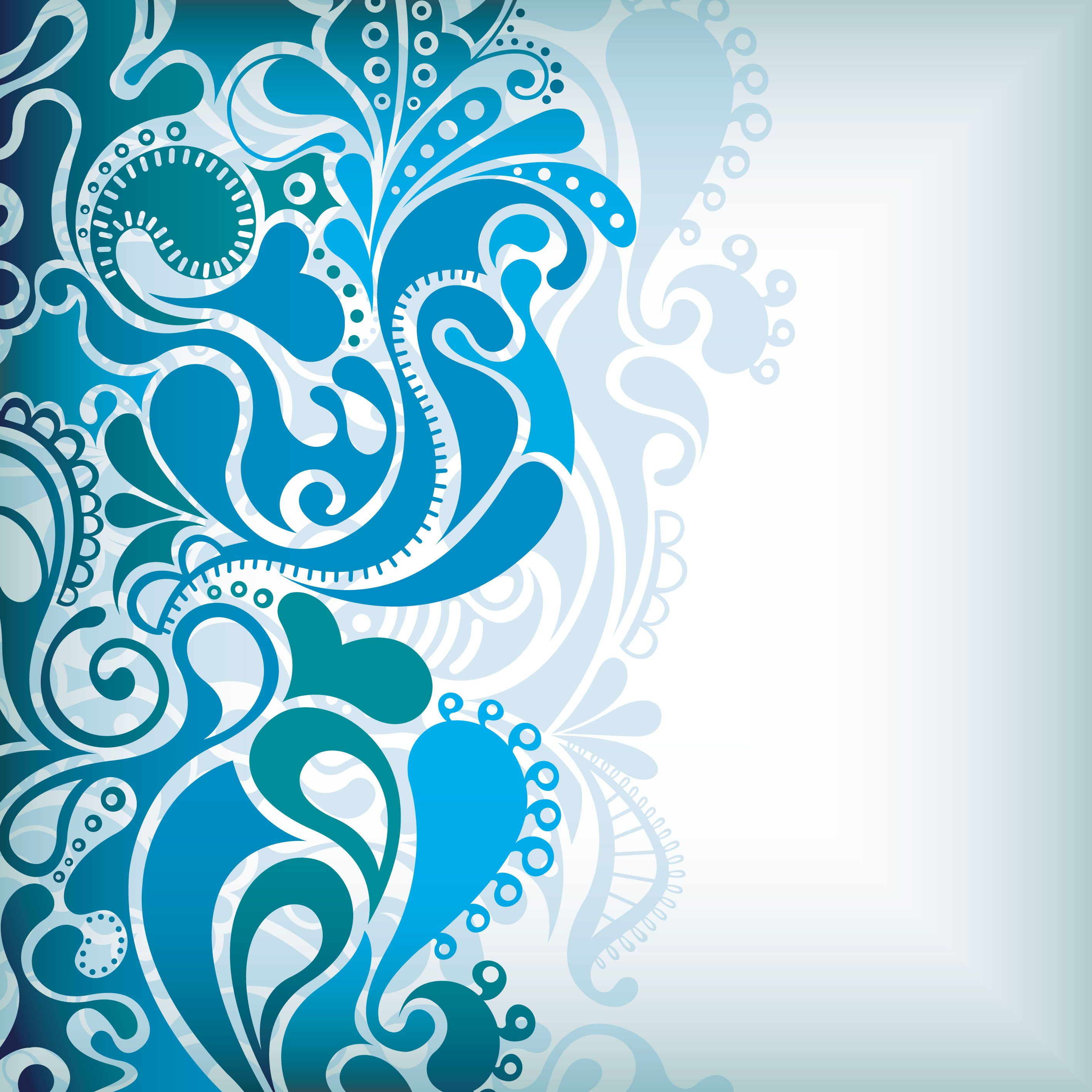 free vector Delicate pattern background vector