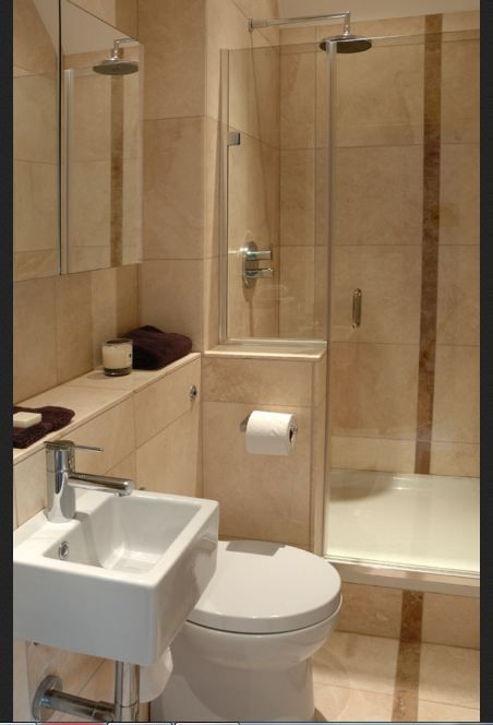 Half sink the bath - small step down into the tub, small ... on Small Space Small Bathroom Ideas With Tub And Shower id=15746