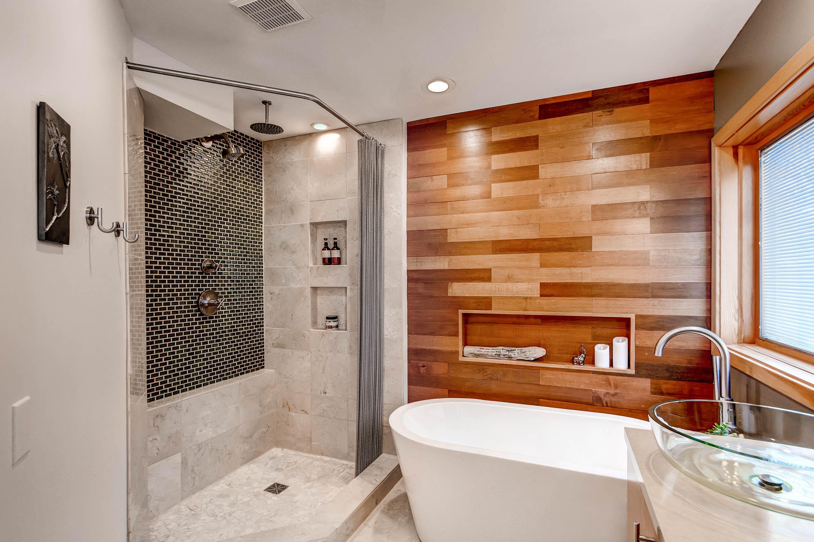 Spa Like Master Bathroom Remodel Bathroom Remodel Cost Rustic