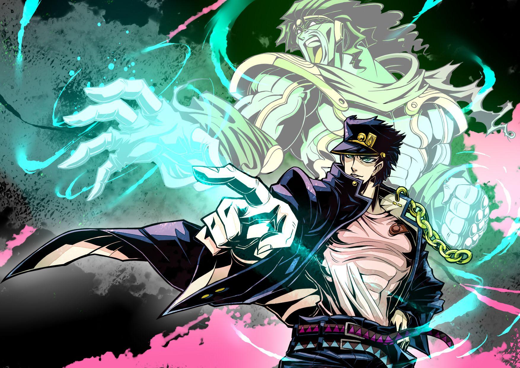 Jotaro Stand Anime Wallpapers Pinterest