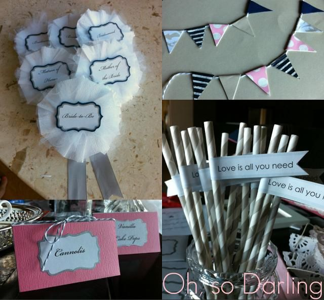 diy bridal shower decor ideas cupcake labels food labels table labels