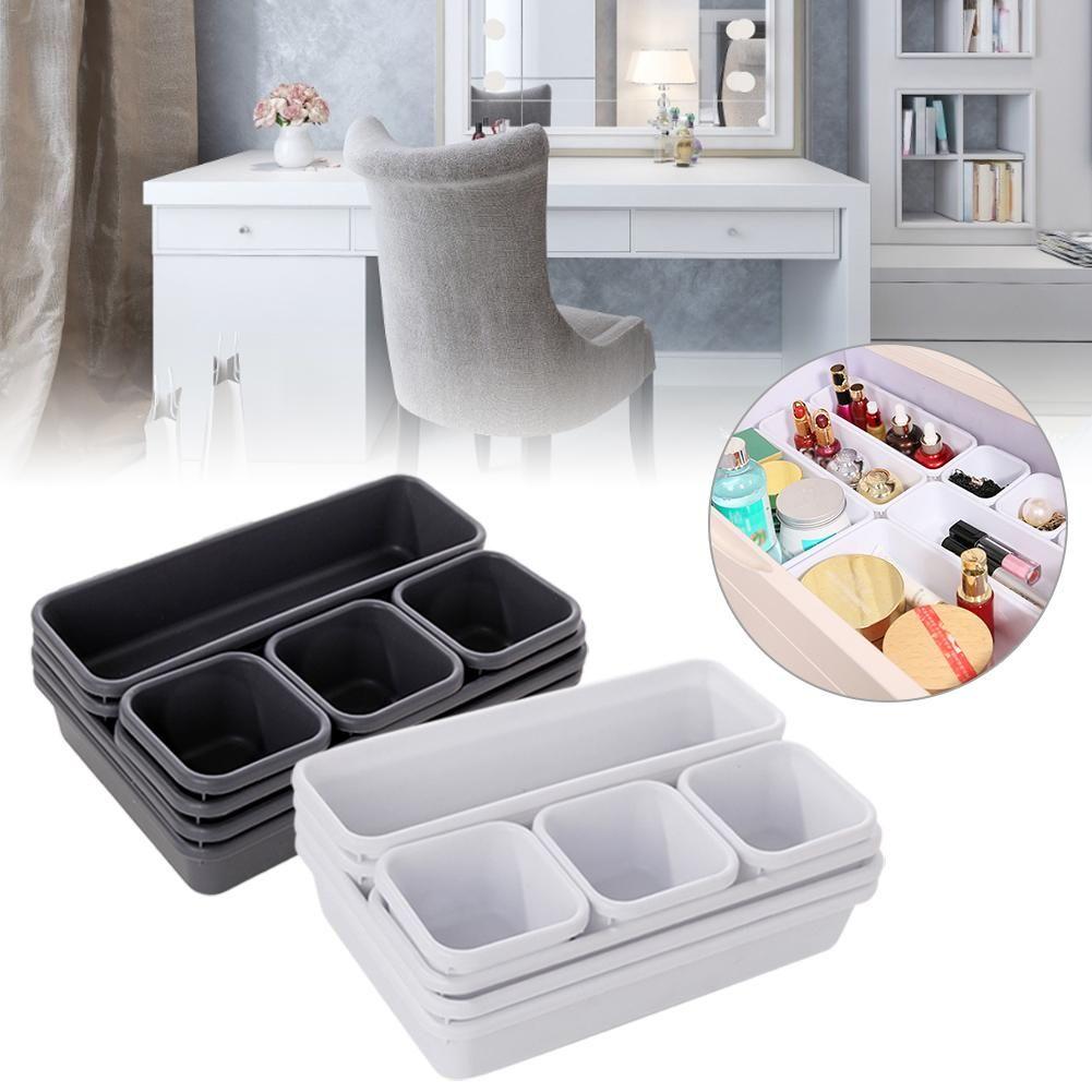 Drawer Tray Box Organizer Divider Kitchen Desk Grids Storage Divide For Bathroom
