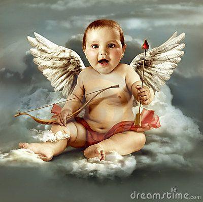 Baby Cupid With Angel Wings Angel Wallpaper Cross Paintings Cute Wallpapers