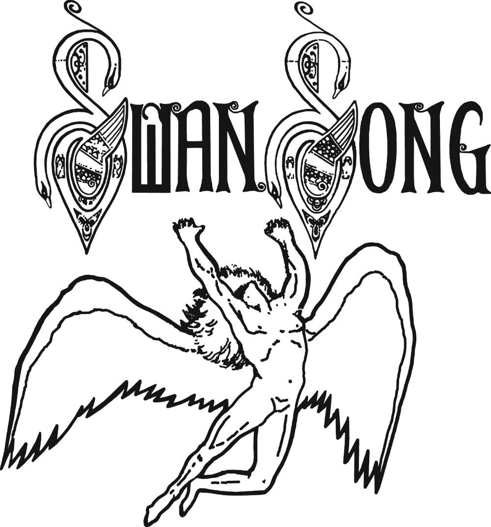 Record Company Swan Song Logo Swan Song Led Zeppelin Record Company