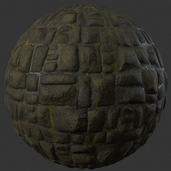 Wet Cobblestone 1 PBR Material in 2020 All video games