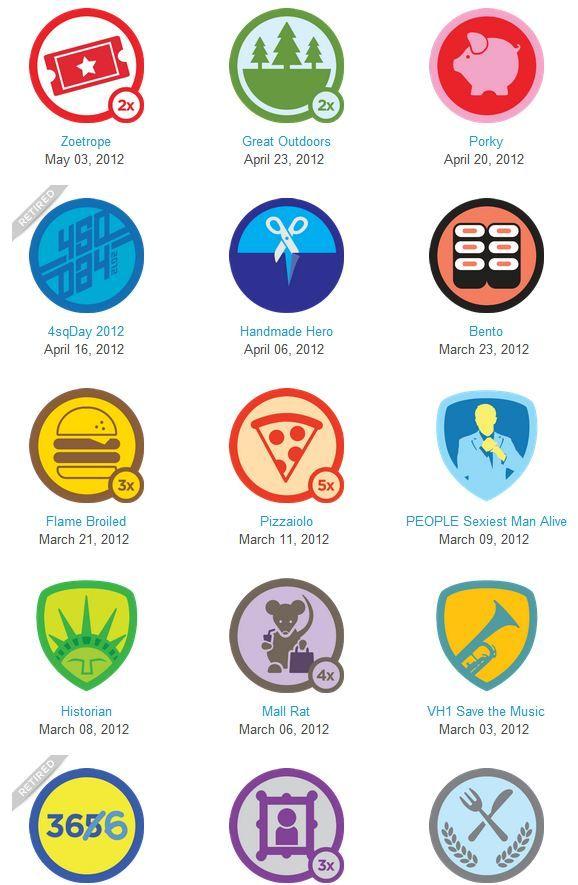Foursquare badges Badge design, App design layout, Badge