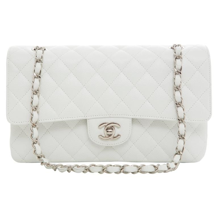 befee0958565 Chanel White Quilted Caviar Medium Double Flap Bag, Spring - Summer 2006