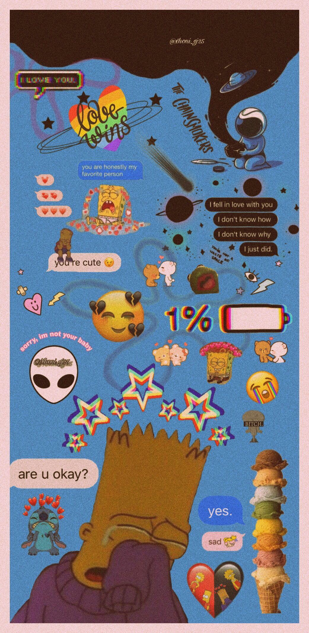 Please like, i send a lot of time in this peace of art 🙏🏻❤️  #interesting #art #sad #simpsons #love #sadlove #brokenhearts #cry #black #space #star #stitch #spongebob #patrickstar #loveislove #hurt #astroid #freetoedit #1percent #1