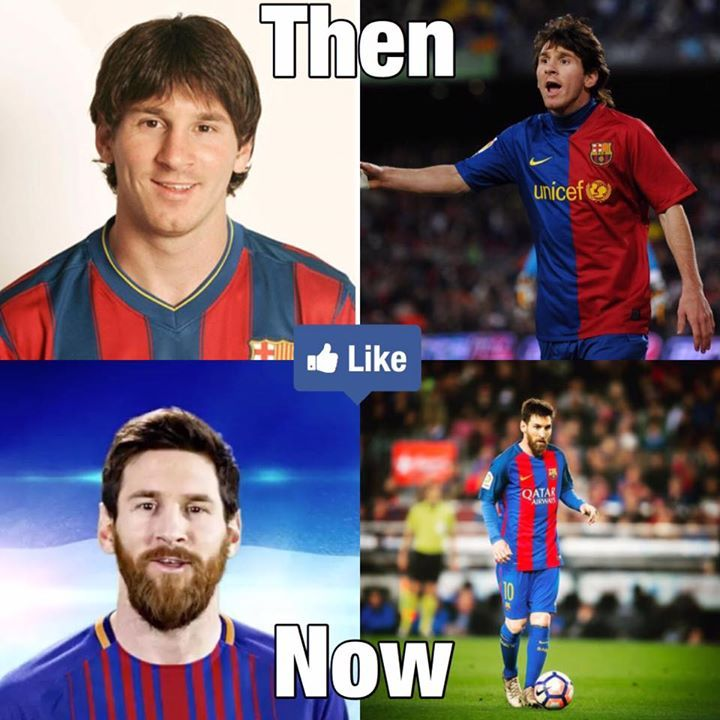 e4c69afd58e9d Leo Messi Then And Now 😱  fashion  style  stylish  love  me