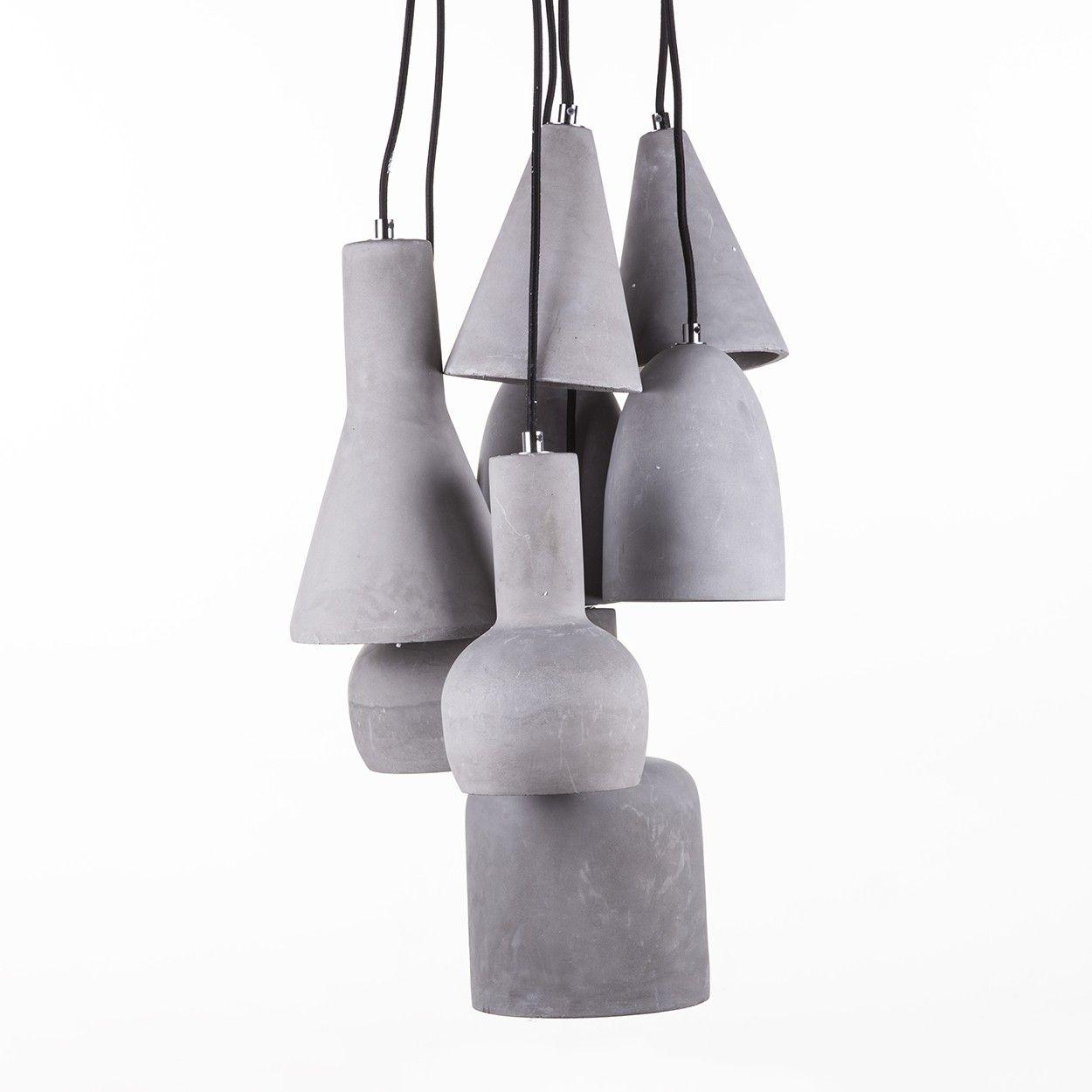 Curney Concrete Pendant Lamp - 8pc