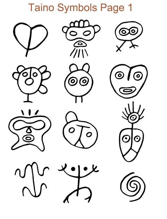 Taino Symbols Book Tattoo Ideas Tattoo Pinterest Taino