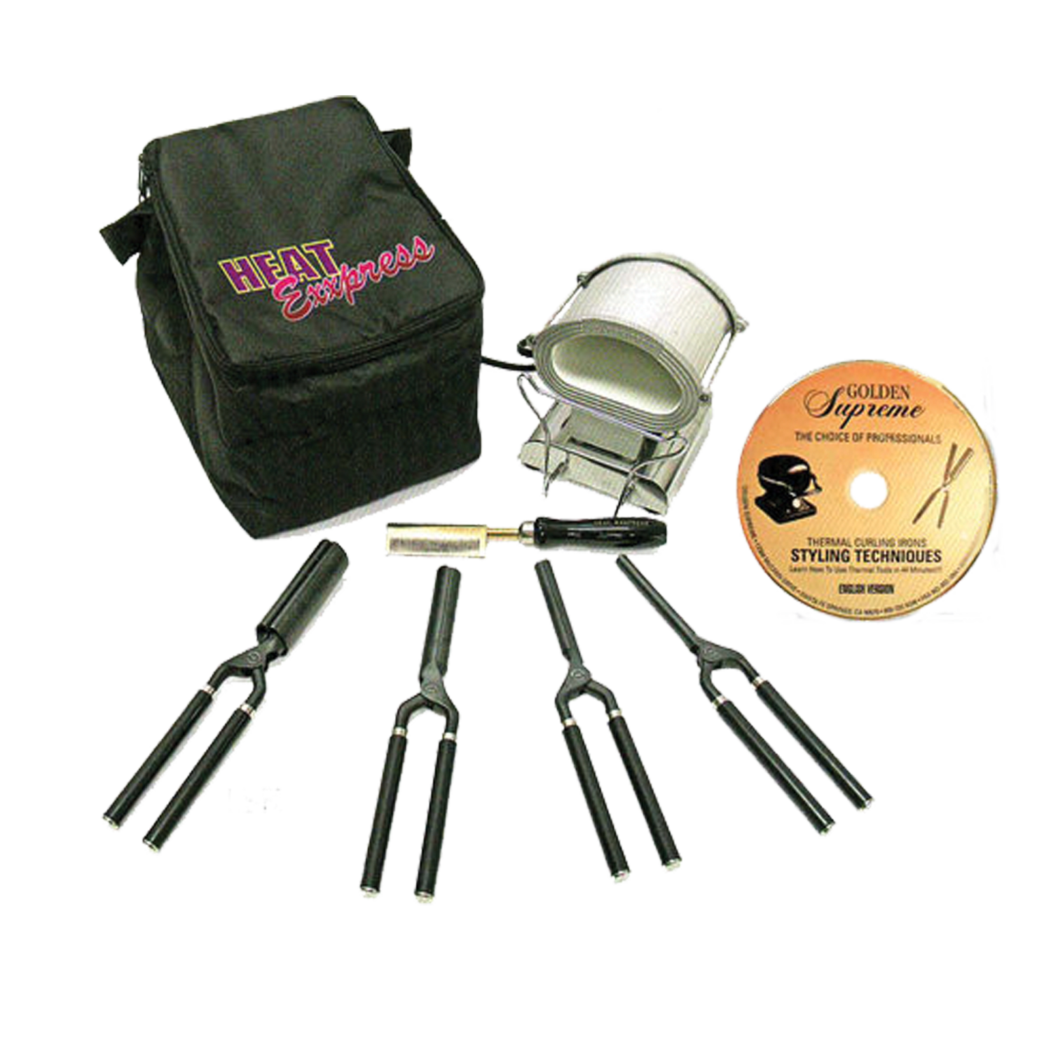 The Golden Supreme Heat Epress 7 1 Thermal Styling Kit Is An Affordable And Quality Made That Perfect For Salon Use Or