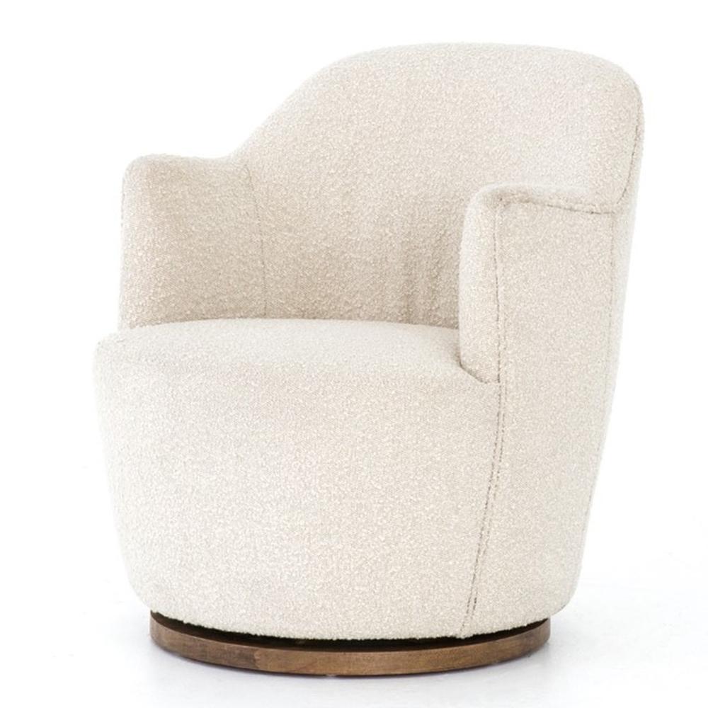 Best Aurora White Bouclé Swivel Chair Swivel Chair Chairs 400 x 300