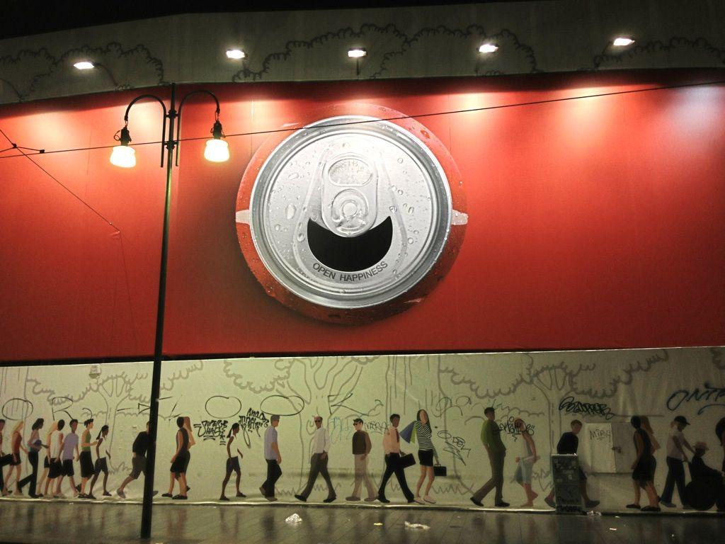 My Coca Cola billboard in via Torino, Milano. Open happiness!