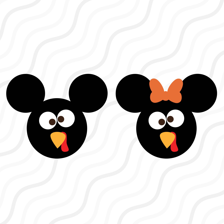 Turkey Mickey Svg Turkey Svg Disney Thanksgiving Svg Cut