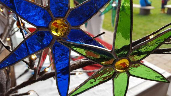 Stained Glass Christmas Stars ~ Beautiful  Original Handmade