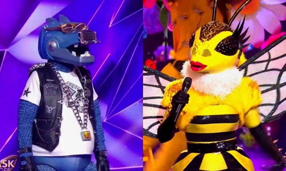 Singer lAbeille et le Dinosaure ont été démasqués  Mask Singer lAbeille et le Dinosaure ont été démasqués Mask Sin...
