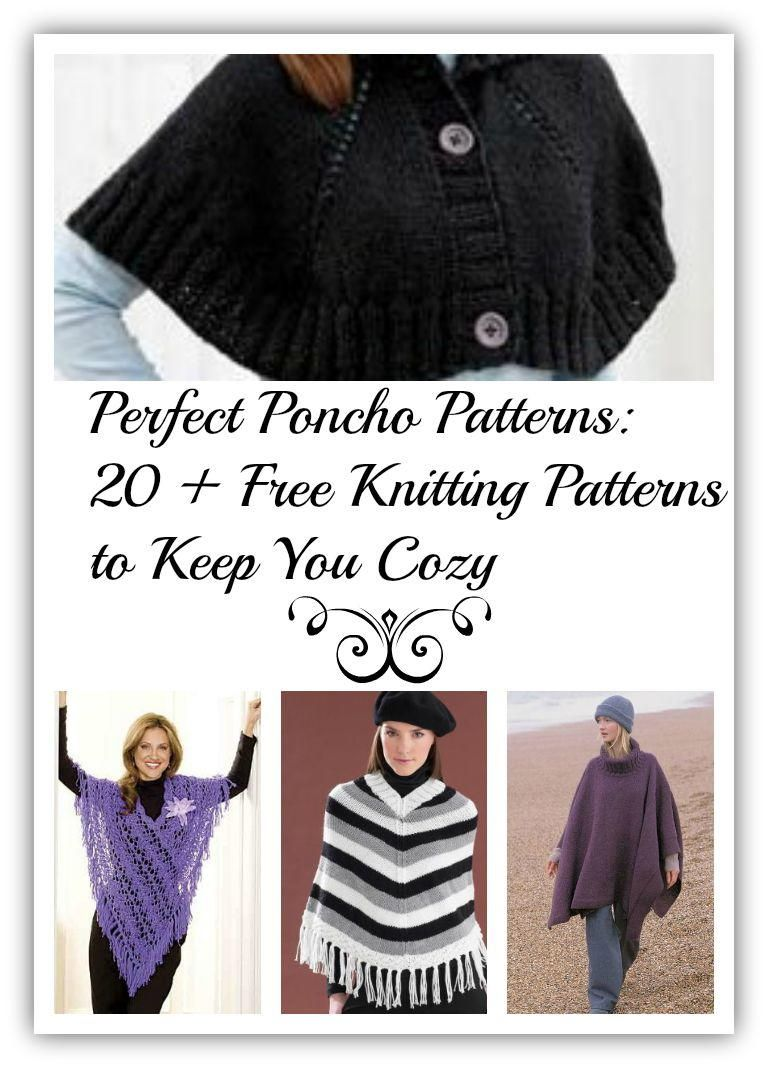 38eb6e805 Perfect Poncho Patterns: 20 + Free Knitting Patterns to Keep You Cozy |  AllFreeKnitting.com