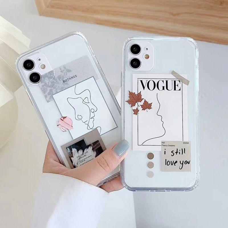 Fashion Magazine Label Design Clear iPhone Case