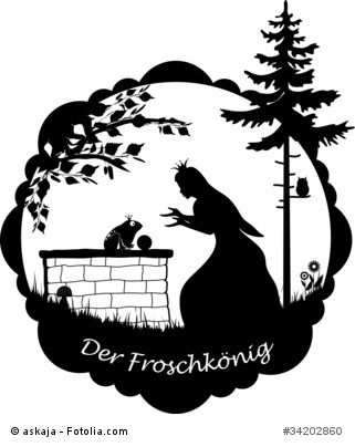 Der Froschkonig Oder Der Eiserne Heinrich Gebruder Grimm Froschkonig Schattentheater Figuren Scherenschnitt