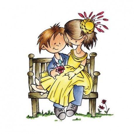 Couple amoureux sur un banc tampon marianne design marianne design pinterest amoureux - Faire l amour sur un banc ...