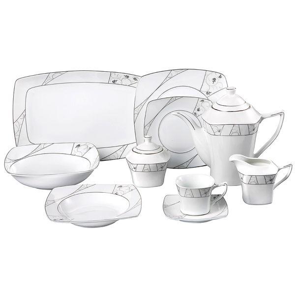 Lorren Home Trend Alexa Porcelain 47-piece Dinnerware Set  sc 1 st  Pinterest & Lorren Home Trend Alexa Porcelain 47-piece Dinnerware Set | DINE ...