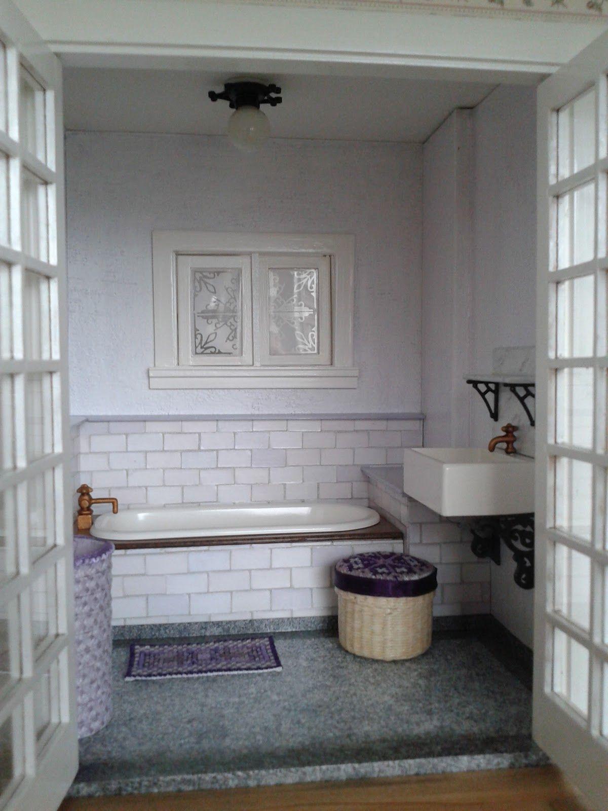 Miniature house bathroom bad pinterest miniaturas for Casa moderna 4279