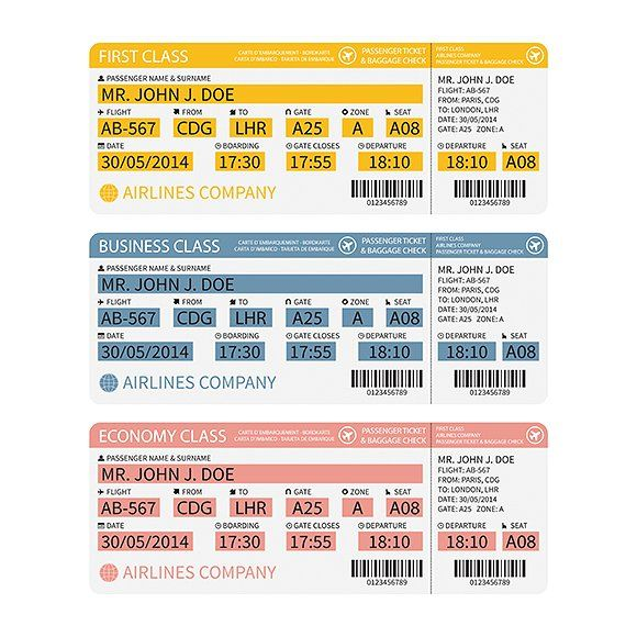 Airplane boarding pass template | Boarding pass and Template