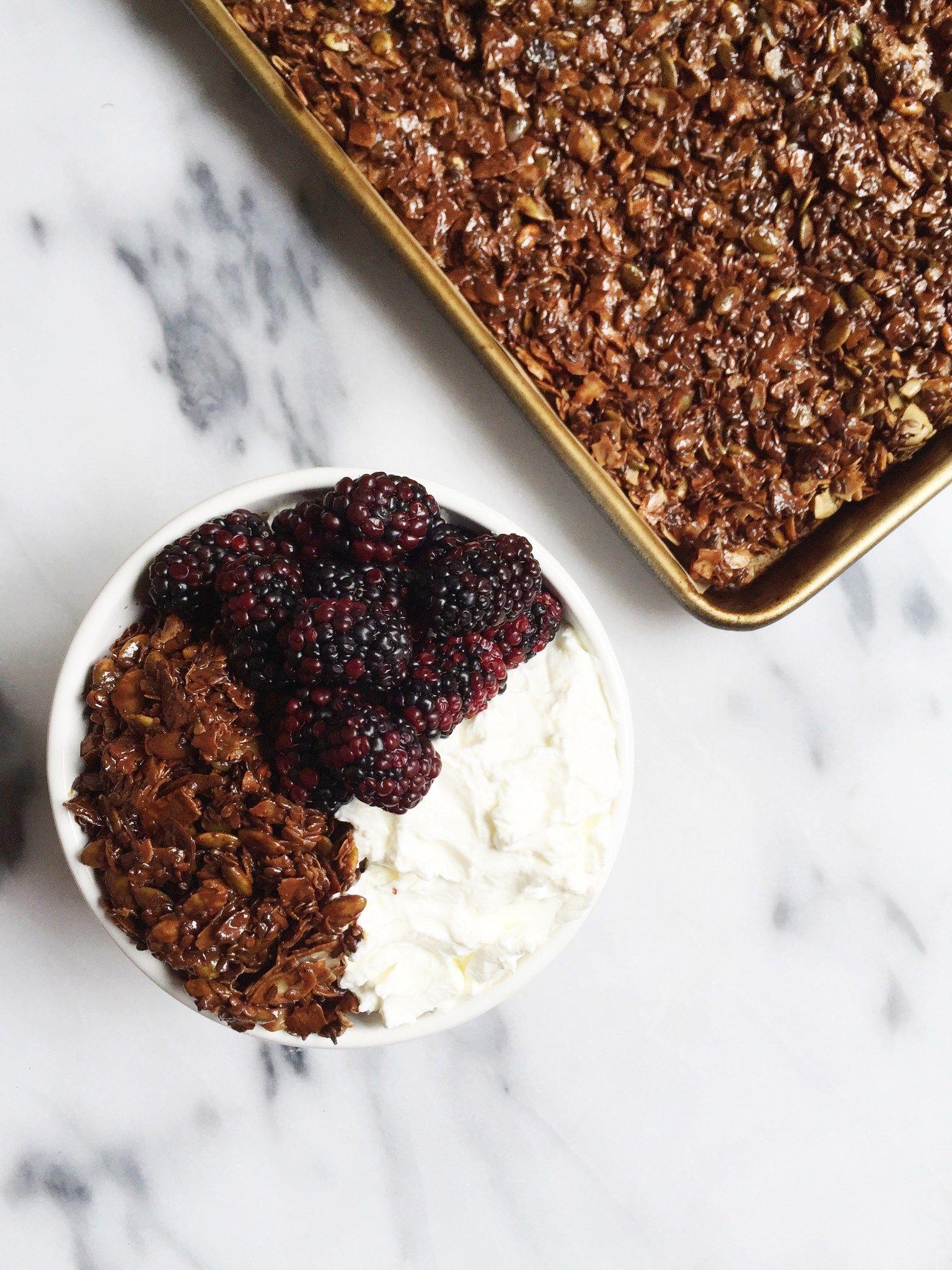 6ingredient chocolate granola nut grainfree