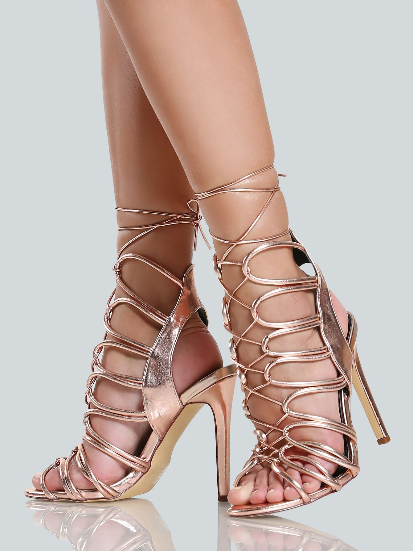 3a20e6c55f1 Tie+Up+Braided+Strappy+Heels+ROSE+GOLD+33.90