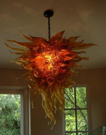 Here is a spectacular blown glass chandelier from robert kaindl of here is a spectacular blown glass chandelier from robert kaindl of kirkland washington that would definitely aloadofball Image collections