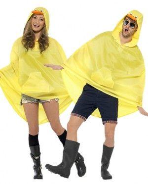 más baratas el más baratas lo último Chubasquero tipo poncho de pato, disfraz de pato impermeable ...