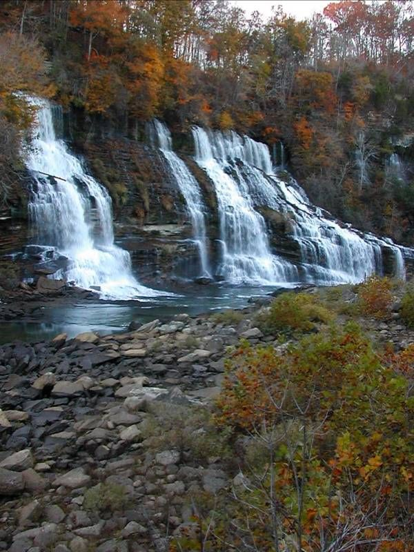 Rock Island State Park Tennessee has a series of lovely