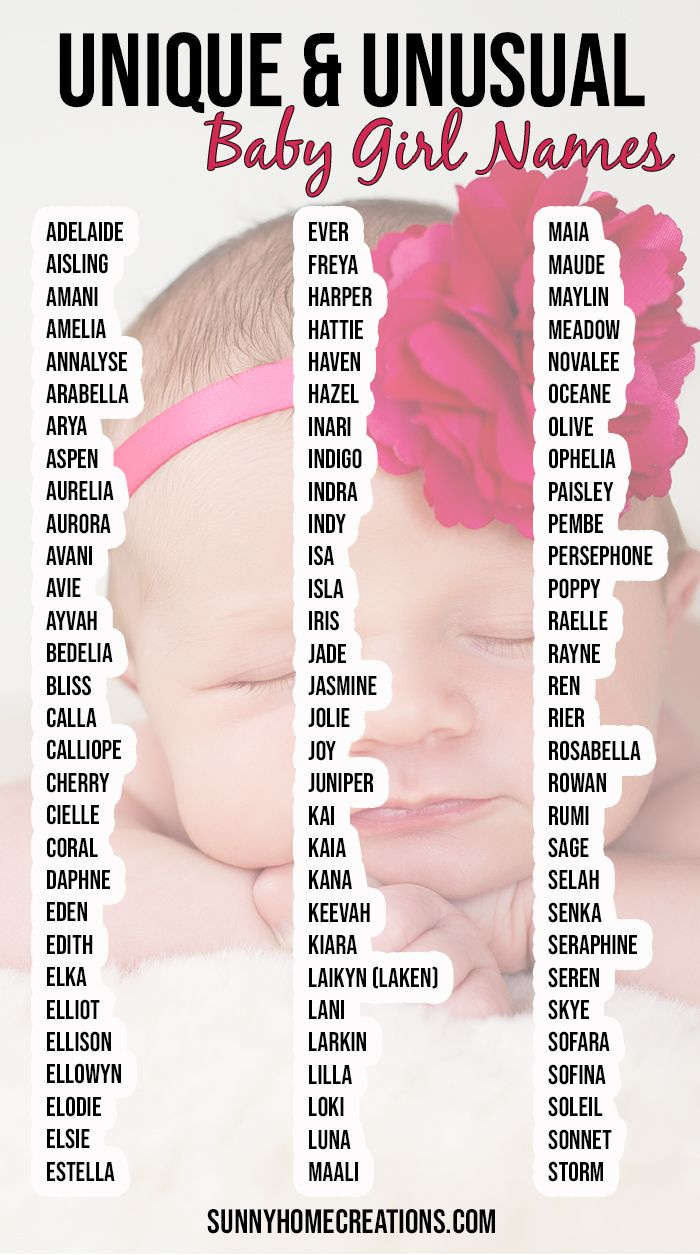 Unique & Unusual Baby Girl Names