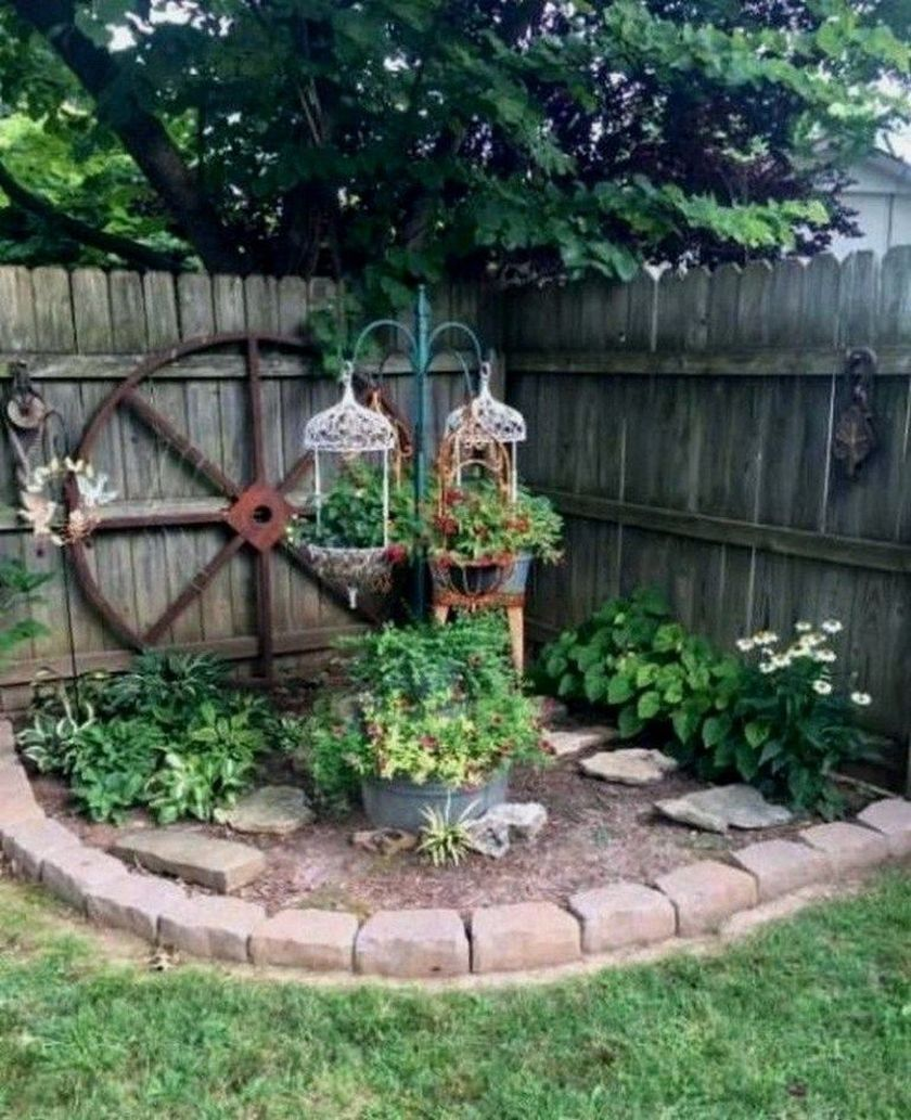 20 Delicate Garden Decor Ideas To Beauty Your Home Backyard Landscaping Designs Corner Landscaping Garden Yard Ideas