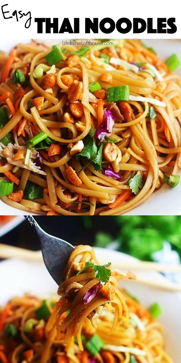 Photo of Simple Thai Noodles – Simple Thai Noodles – Life in the Lofthouse – #airf …