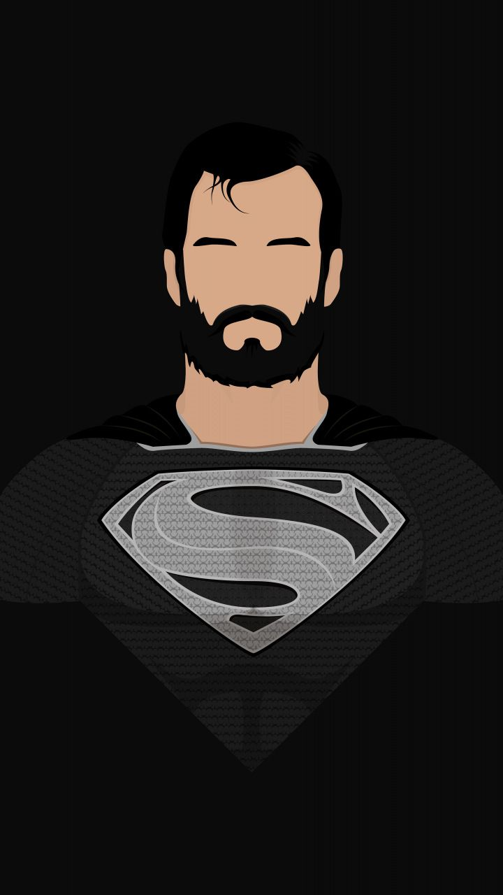 Superman, minimalism, superhero, art, 720x1280 wallpaper