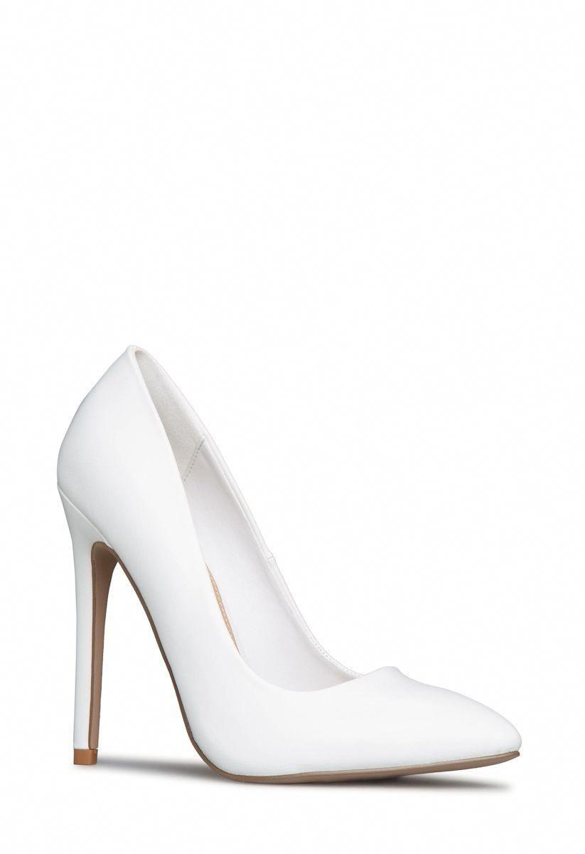 White pumps shoes, Stiletto heels