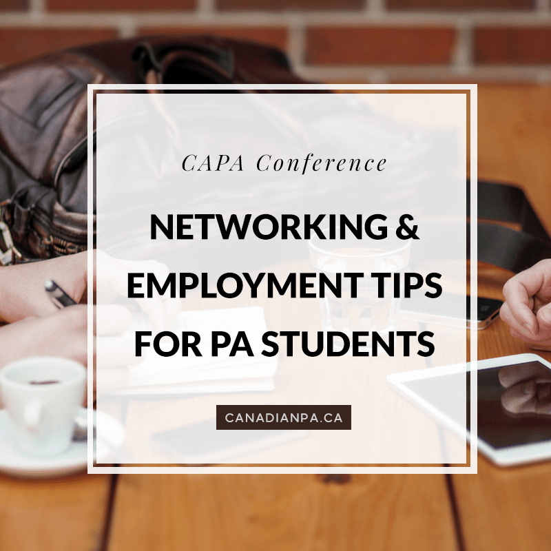 Networking & Employment Tips for PA students Physician
