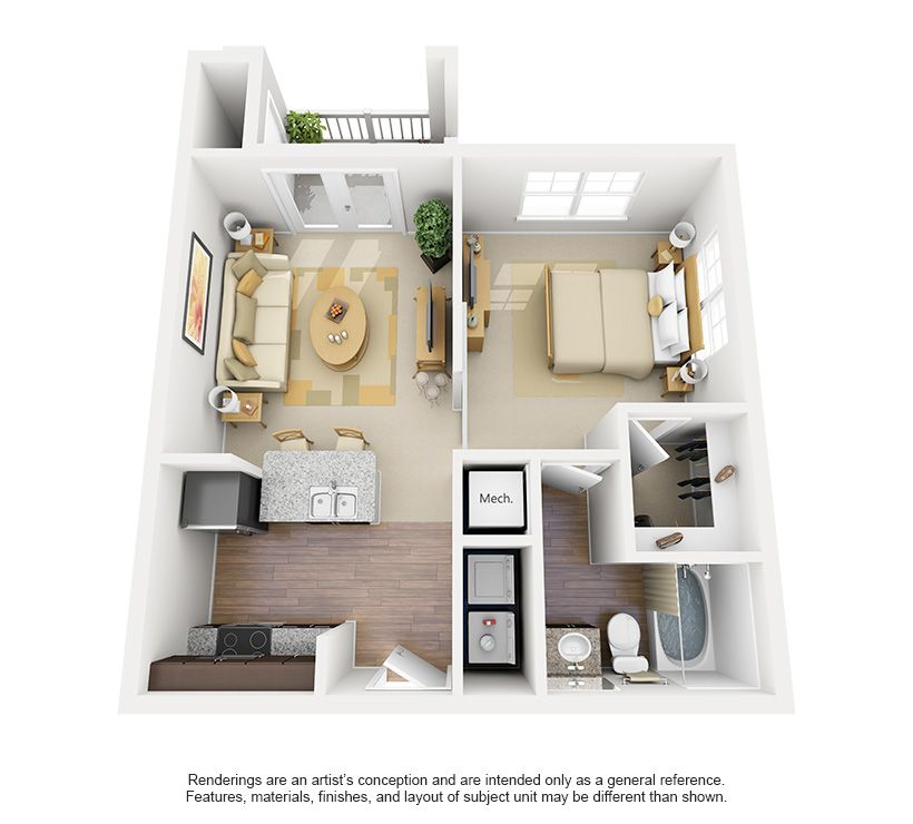 20' x 24' floor plan - Google Search | One bedroom house ...